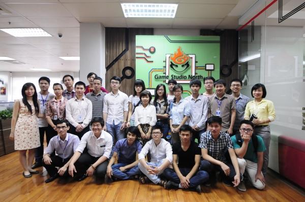 Thực tế và giao lưu  tại Game North Studio với công ty VNG