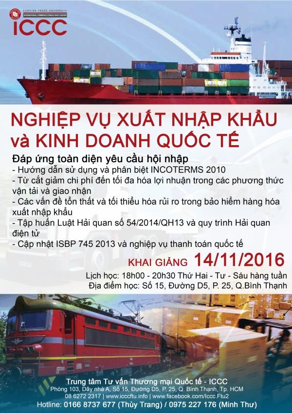 Khóa học Nghiệp vụ Xuất nhập khẩu và Kinh doanh Quốc tế